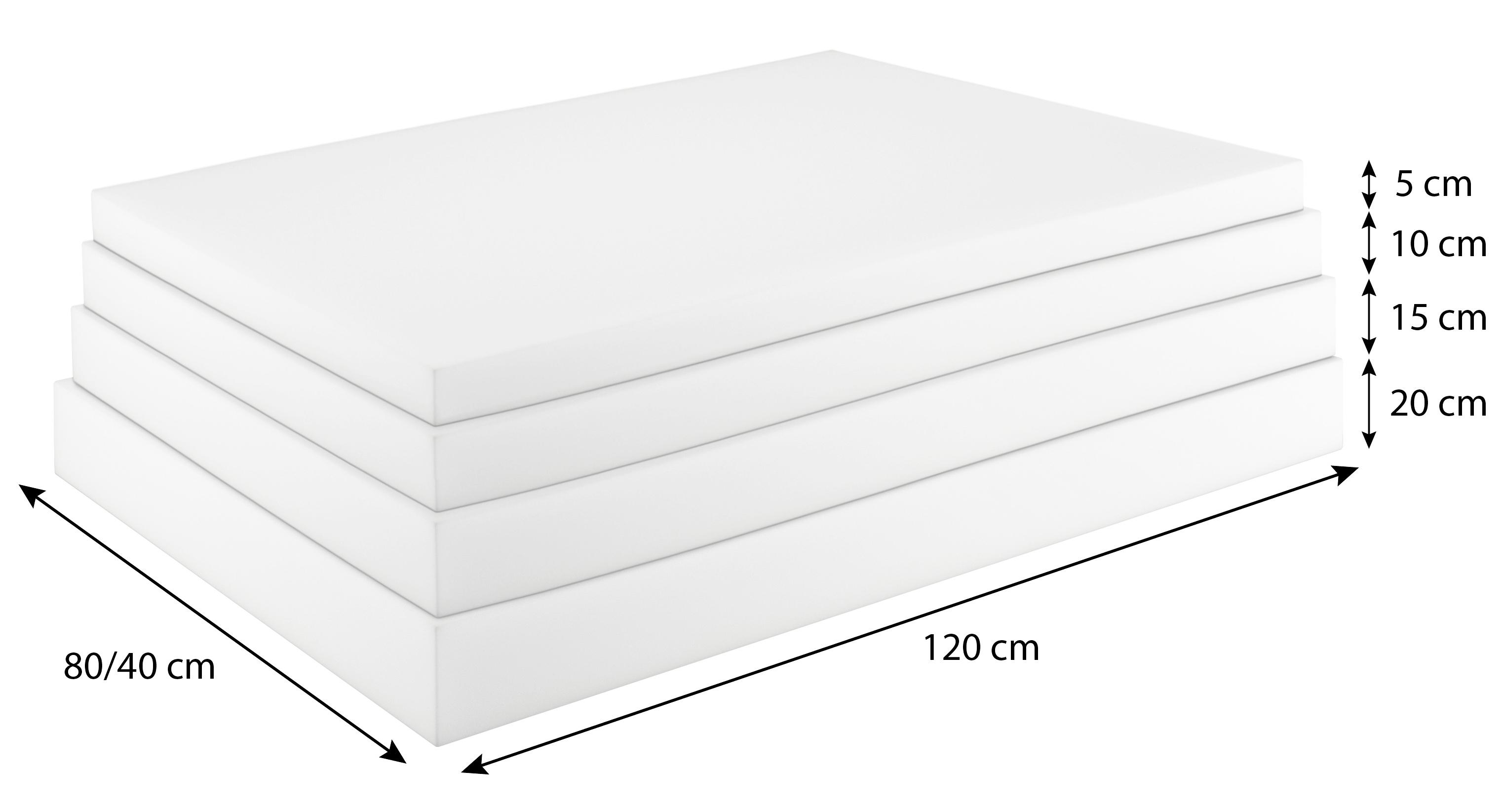 schaumstoffplatte f r europalette polsterauflage matratze zuschnitt 120x80cm ebay. Black Bedroom Furniture Sets. Home Design Ideas