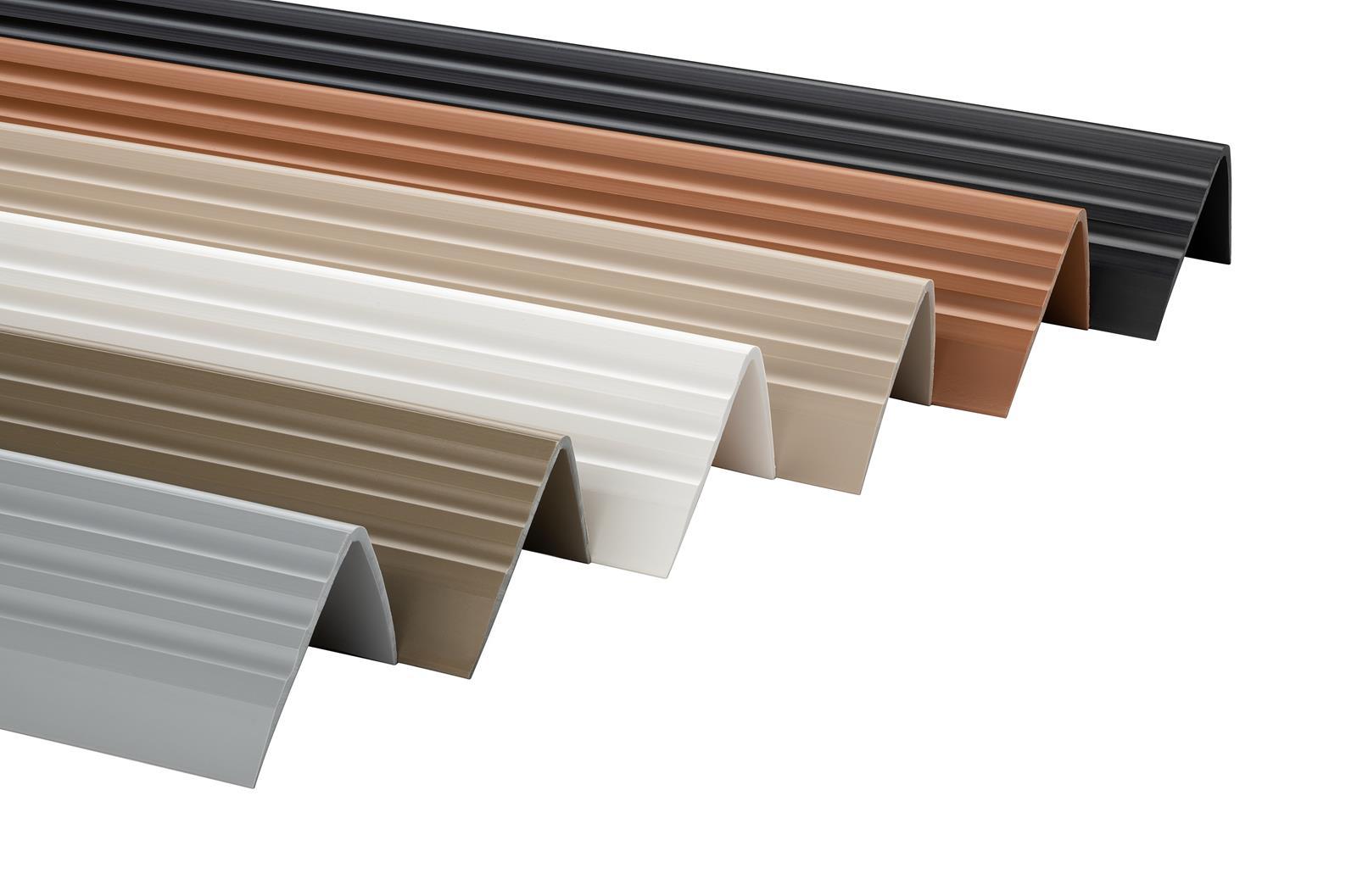 Treppenkantenprofil PVC Gummi SELBSTKLEBEND Vinyl Winkelprofil 50x42 RGP 100CM BEIGE